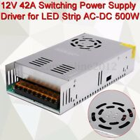 12V 42A Switching Power Supply Converter Driver For LED Strip AC-DC 500W
