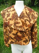 Vtg. '80's Cropped wool blazer jacket coat Stop Ou Encore France Bold Baroque M