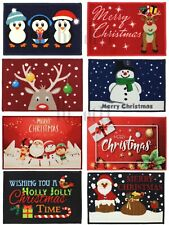 Christmas Door Mats Machine Washable | Santa,Merry CHS,Snowman,Reindeer,New Year