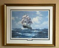 "Charles Vickery Lithograph ""Old Ironsides"" Limited 472/950 Signed, Matted Framed"