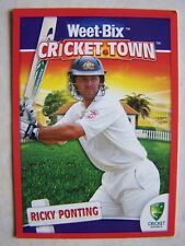 2009 Weet-Bix Cricket Town Ricky Ponting Insert / Competion Card Australia RARE