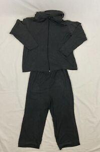 Chico's Design Hooded Sweatshirt & Pants Slinky Activewear Lounge Set Size 3