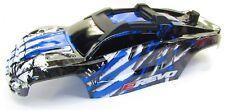 1/10 BRUSHLESS E-REVO 2.0 VXL BODY shell (BLUE BLACK clipless mounting 86086-4