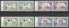 Liberia 1958 Sc# C114-17 set Airmail Tubman Vatican France Switzerland pairs MNH