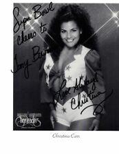 CHRISTINA CARR - DALLAS COWBOYS CHEERLEADERS SIGNED 8x10 B&W PHOTO