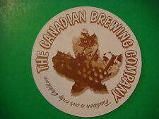 Beer Coaster >< The CANADIAN Brewing Company ~ Canada's Oldest Micro ~ 125 Years