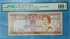 1992 Fiji 5 Dollars PMG68 EPQ <P-93a> SUPERB GEM UNC