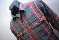 35974 Mens Polo Ralph Lauren Leather Padded Elbows Plaid Dress Shirt Size XL