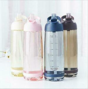 Water Bottle With Straw Plastic BPA Leakproof Sports Travel Plastic Drinks Mugs