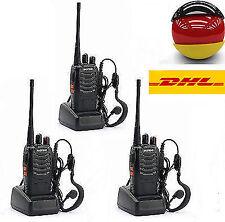 3 x Baofeng Hand-Funkgerät Walkie Talkie BF-888S UHF 5W 16CH CTCSS/CDCSS Radio