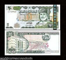 OMAN 20 RIALS P41 2000 MILLENNIUM UNC SULTAN STOCK EXCHANGE CURRENCY MONEY NOTE