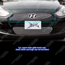 Fits 2012-2016 Hyundai Accent Stainless Steel X Mesh Grille Insert