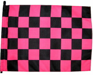 """NEW 7 ft. Pink/Black Checker 1 Pc 1/4"""" Whip Flag Pole (no Mounting Hardware)"""