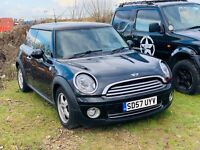 MINI ONE 1.4 2007 - NO RESERVE - PX CLEARANCE - ONLY 80K - REPAIRS