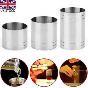 3x Stainless Steel Wine Measure Spirit Thimble Jigger Bar Measure Cup 25/35/50ml