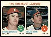 1973 TOPPS STEVE CARLTON/NOLAN RYAN VG/EX+(CORNER DAMAGE) CALIFORNIA ANGELS #67