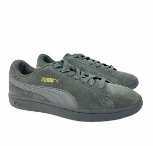 PUMA Men's Size 7 Gray Charcoal Smash v2 Sneakers Shoes Skate Casual Suede