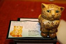 Harmony Kingdom Pot Bellys Birthstone Calender Cats Opal October