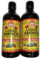 Lot of (2) Bragg Liquid Aminos 16oz ea Soy Sauce Alternative Kosher Non GMO GF