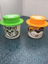 "Burger King 2 Vintage Whirley ""My Mug"" Cat & Dog Cups"