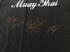 Rose Namajunas Pat Barry Ludwig Autographed Ludwig Muay Thai Shirt W/COA