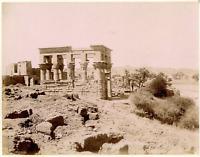 Zangaki. Egypte, Philae, Panorama du Nord  Vintage albumen print.  Tirage albu