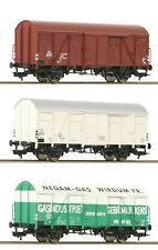Fleischmann HO scale Set of 3 boxcars type Gs NS