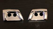 CHROME HEADLAMP JET WASHER COVERS FOR RANGE ROVER SPORT DISCOVERY 3 LR3