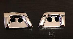 Chrome Headlight Washer Jet Covers Sport Bumper Spray Nozzle for Range Rover