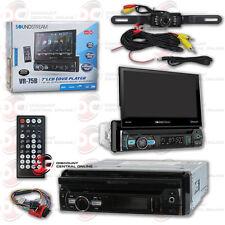 "SOUNDSTREAM VR-75B DIN MOTORIZED 7"" LCD BLUETOOTH RADIO FREE LICENSEPLATE CAMERA"