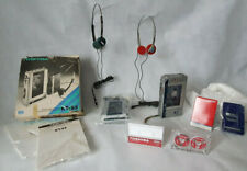 KING TOSHIBA Cassette WALKMAN - Radio RECORDER KT-R2, +2 Headphones + FREE KT-S3