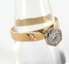 .18CT YELLOW / WHITE GOLD VS CLARITY DIAMOND SOLITAIRE RING WITH VALUATION $2800