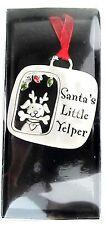 "Dog  Xmas Decoration Tree Hanging Ornament ""Santa's Little Yelper"""
