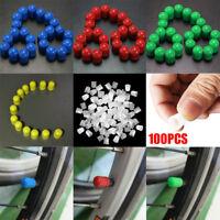 100pcs Plastic Auto Car Bike Motorcycle Truck wheel Tire Valve Stem Caps