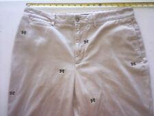 Rare ~ MICHIGAN WOLVERINES ~ Embroidered Khaki Pants ~ Colony Sportswear ~ 34x28