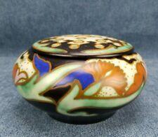 Vintage Gouda Pottery Vase With Flower Frog Goedewaagen 1923-1933 Holland