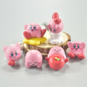 Star Kirby 's Dream Land 6 PCS Cute Cartoon Action Figure Kids Toy Doll Gift