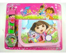 Children's Kids Girls DORA THE EXPLORER Purse Wallet Watch Toy Xmas Gift Set 2