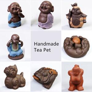 Chinese handmade tea pet statue historical figurine monk tea play yixing zisha