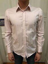 H&M Slim Fit Business Hemd Freizeithemd Gr. S rosa unifarben 100% Cotton wie NEU