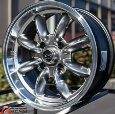 Hyper Black 15X7 +25 Rota Rb 4X100 Wheels Fit Mini Cooper S Bmw 2002 E30 E21 E10