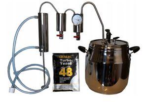 Destille Destillieranlage 17 Liter Schnellkochtopf   Kühler Thermometer