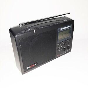 C CRANE CC RADIO PLUS DX AM FM TV Weather Alert Band RECEIVER Clock Alarm Tested
