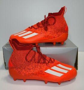 Adidas Adizero Primeknit Football Cleats Solar Red Orange Men's Size 9 (EH1304)