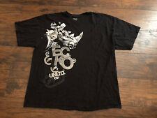 Ecko Unltd Short Sleeve T-Shirt Black Rhino Design Mens Size 3XL