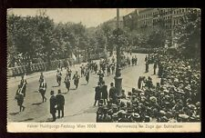 Austria VIENNA Kaiser Huldigungs-Festzug 1908 PPC