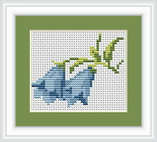 Bluebells Cross Stitch Kit - Luca S - Beginner 7.5cm x 6cm