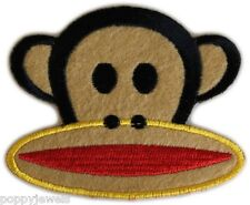 MONKEY FACE EMBROIDERED ++IRON ON ++ APPLIQUE