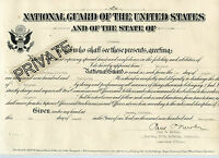 1922 National Guard Certificate - HITNER Family - Denver, Colorado Document