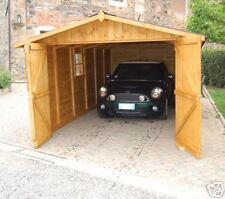 GARAGE CASETTA LEGNO 320x640 porta tripla 20mm BOX AUTO